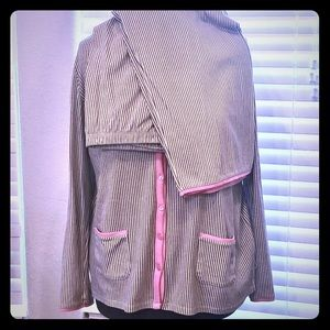 CELESTIAL DREAMS XL PJs Pajamas Pickets pink gray